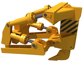 Excavator Fork Bucket machinery 3D
