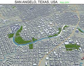 3D asset San Angelo Texas USA 40km