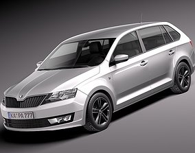 Skoda -Rapid Spaceback 2014 3D model