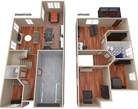 House - Floor Plan 3D model