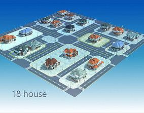 3D model a group villa