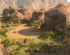 3D Rocky terrain in Blender