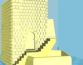 old brick house 3D print model