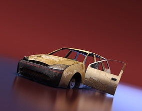 3D model Junkyard Station Wagon