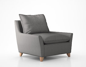 Bliss Down-Filled Chair-and-a-Half by West Elm 3D model