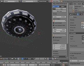 3D asset Spaceship Flying saucer