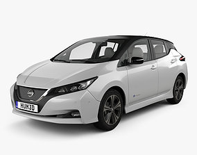 3D model Nissan Leaf with HQ interior 2018