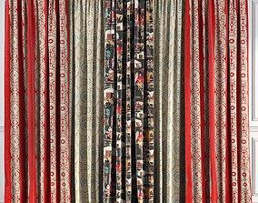 Curtain Set 52 3D