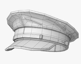 Naval Hat Lowpoly 3D model
