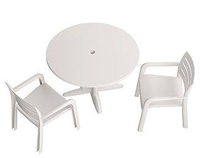 3D asset Garden Table Round 02
