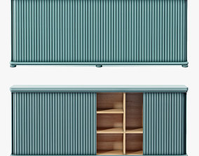 3D Soane The Large Tambour Cabinet