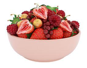 3D model Bowl of red berries