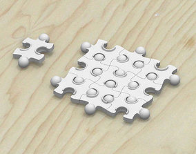 3D printable model Wave Jigsaw Puzzle