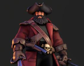 Pirate Captain PBR 3D model