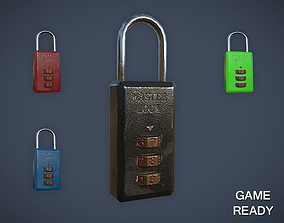3D asset Combination Lock
