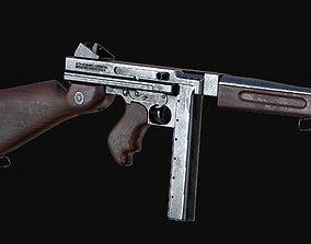 M1A1 Thompson 3D asset rigged