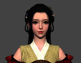 Chinese beauty Woman Female pretty girl laddy game-ready 2