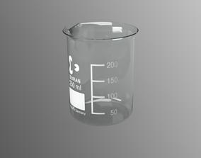 Schott Duran Borosilicate Beaker 250ml 3D model