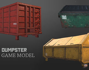 Dumpster Pack 3D model low-poly