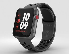 3D model Apple Watch 3 Nike 38mm GPS Space Gray Aluminum 1