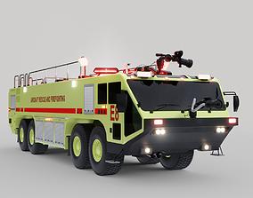 Airport Fire Truck ARFF Crash Tender 8x8 3D