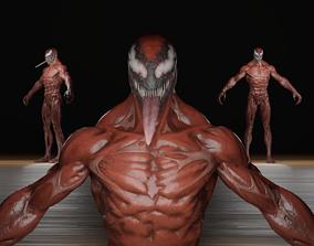 Carnage Fortnite Skin T-Pose RIGGING 3D model