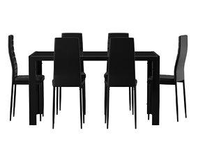 Rassier 7 Piece Dining Set 3D asset