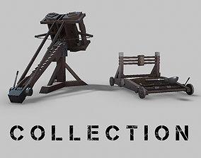 MEDIEVAL Ballista and Catapult 3D model PBR