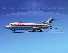 3D model Boeing 727-200 Iberia 1