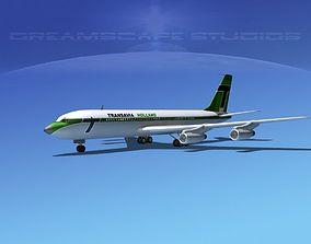 3D model Boeing 707 Transavia Holland
