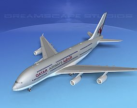 3D model Airbus A380-800 Qatar
