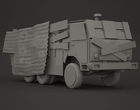 3D asset Military armoured vehicle kit 03