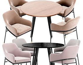 3D Sandra Chair and Raymond Table