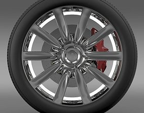 Bentley Continental GT wheel 1 3D model