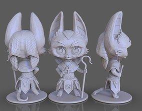 stylized goddess cat Bastet 3D printable model egypt