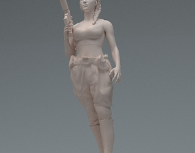 3D printable model Lara GunGirl