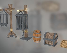 3D model old time set