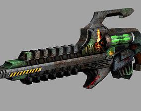 3D model Gauss rifle low poly