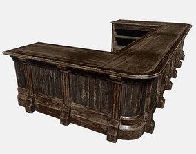 Old Bar Counter 3D asset