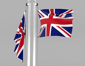 3D Flag of United Kingdom