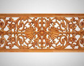 Rectangular Floral Ornament 3D printable model