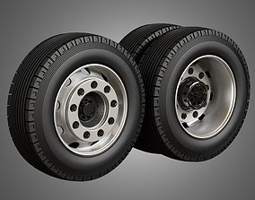 Heavy Duty Trucks Tires and Rims 3D