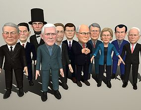 3D model Political caricatures pack 3