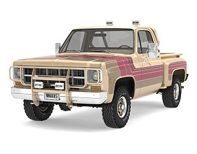 3D model GENERIC 4WD STEPSIDE PICKUP TRUCK 11