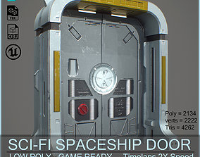 3D model SciFi SpaceShip Door GameReady