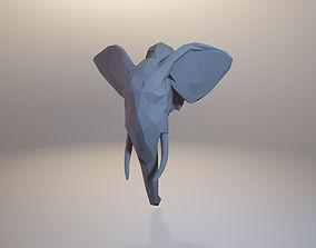 low-poly elephant model