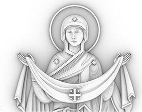 3D print model vergin Mary Holy Belt orthodox