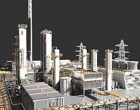 3d Oil Refinery 3D model