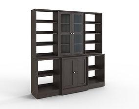 3D model HAVSTA Storage combination w glass doors dark