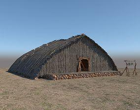 3D model Prehistoric Wooden House